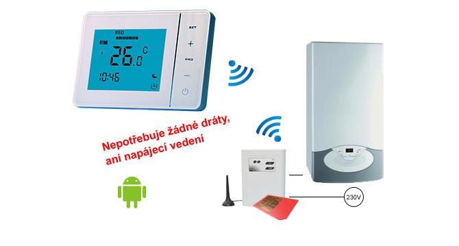 Výhody řešení bezdrátového termostatu pro dálkové ovládání topení