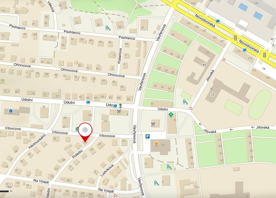 mapa kudy do VMI